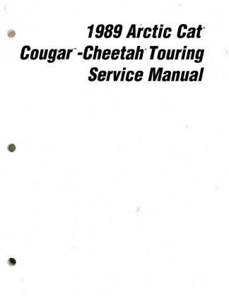 Official 1989 Arctic Cat Cougar Cheetah Snowmobile Factory Service Manual