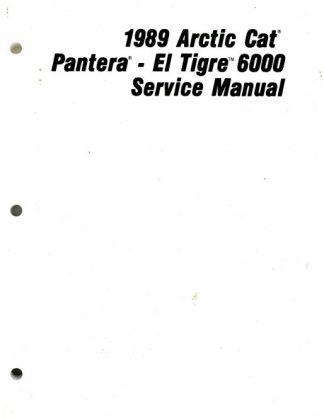 Official 1989 Arctic Cat El Tigre 6000 Pantera Snowmobile Factory Service Manual