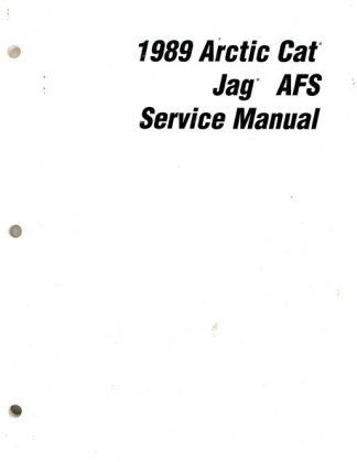 Official 1989 Arctic Cat Jag AFS Snowmobile Factory Service Manual