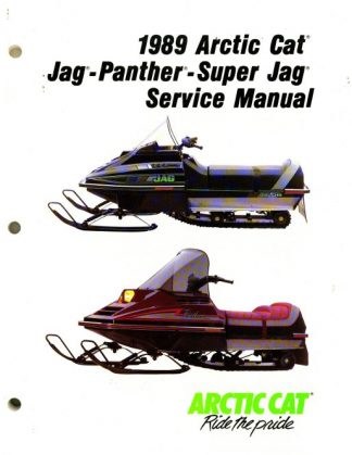 Official 1989 Arctic Cat Jag Jag Deluxe Panther Super Jag Snowmobile Factory Service Manual