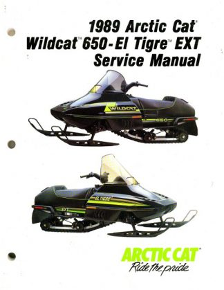 Official 1989 Arctic Cat Wildcat El Tigre EXT Snowmobile Factory Service Manual