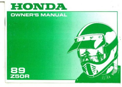 Official 1989 Honda Z50R Factory Owners Manual