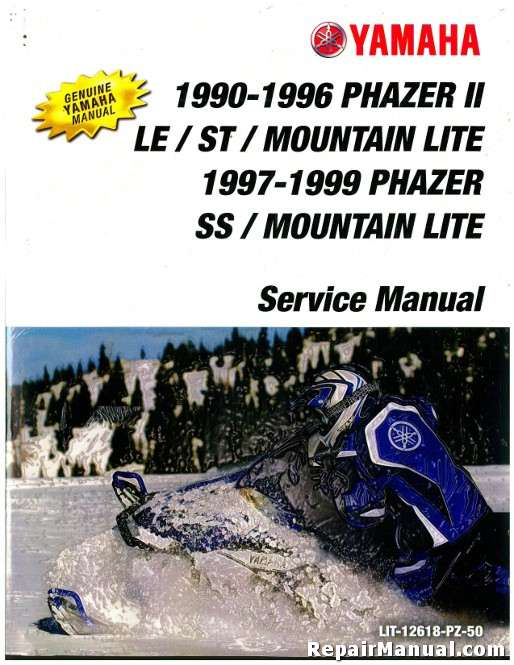 Official 1990 1999 Yamaha Phazer PZ480 Snowmobile Factory Service Manual