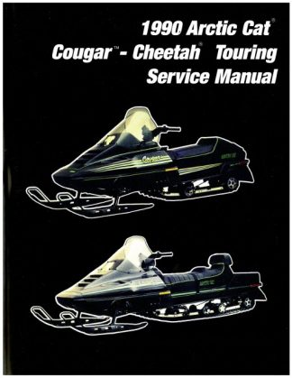 Official 1990 Arctic Cat Cougar Cheetah Touring Snowmobile Factory Service Manual
