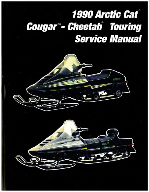 1990 arctic cat cougar cheetah touring snowmobile service manual rh repairmanual com Arctic Cat ATV Repair Manuals 2002 Arctic Cat ATV Diagram