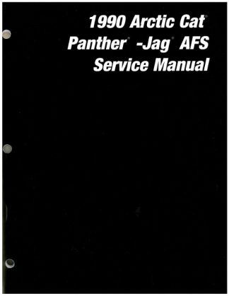 Official 1990 Arctic Cat Jag AFS Panther Snowmobile Factory Service Manual
