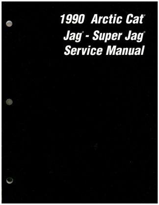 Official 1990 Arctic Cat Jag Super Jag Snowmobile Factory Service Manual