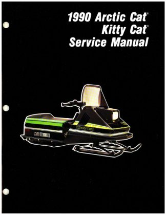 Official 1990 Arctic Cat Kitty Cat Snowmobile Factory Service Manual