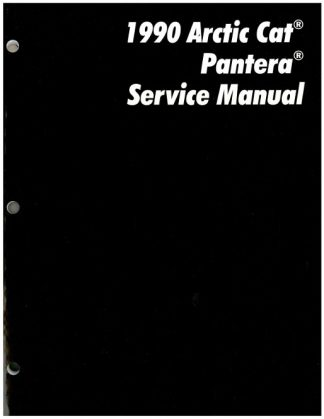 Official 1990 Arctic Cat Pantera Snowmobile Factory Service Manual