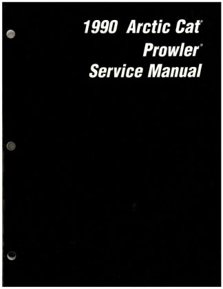 Official 1990 Arctic Cat Prowler Snowmobile Factory Service Manual