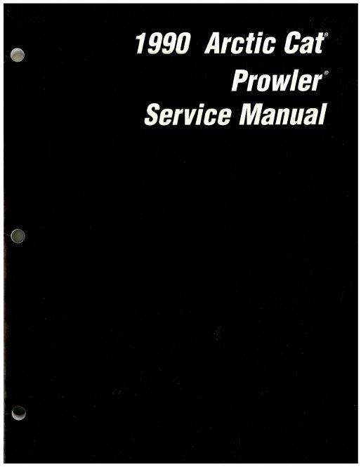 1990 Arctic Cat Snowmobile Prowler Service Manual