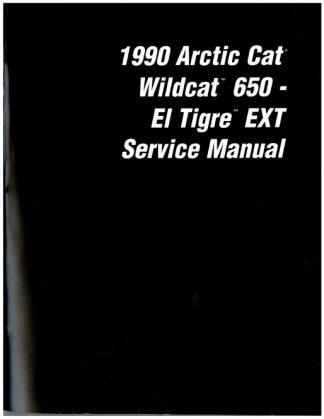 Official 1990 Arctic Cat Wildcat El Tigre EXT Snowmobile Factory Service Manual