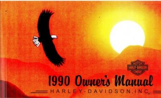 Official 1990 Harley Davidson All Owners Manual