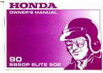 Official 1990 Honda SB50P Elite 50E Factory Owners Manual