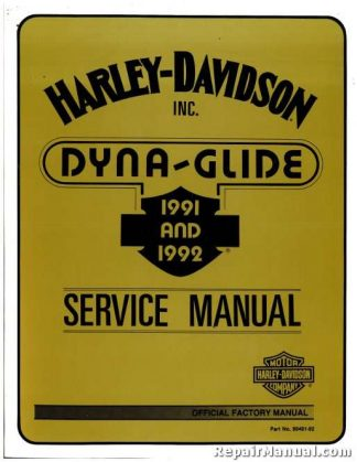 Harley 92 Fxstc service manual or automatic transmission on