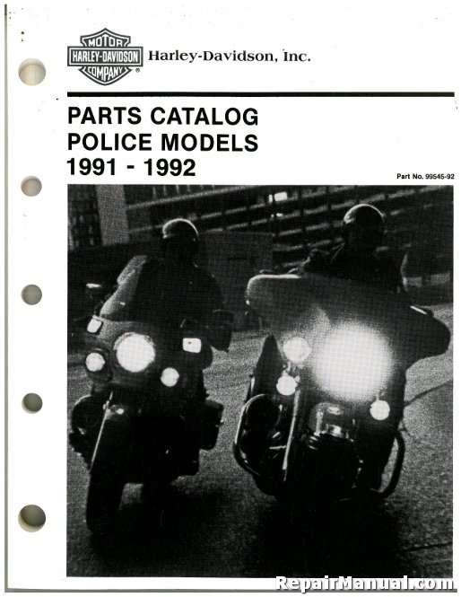 1991-1992 Harley-Davidson FXRP FLHTP Parts Manual
