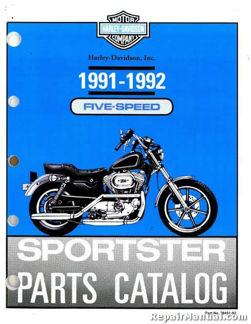 1991-1992 Harley Davidson XLH Sportster Motorcycle Parts Manual