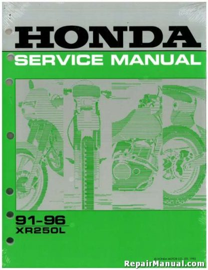 Official 1991-1996 Honda XR250L Factory Service Manual