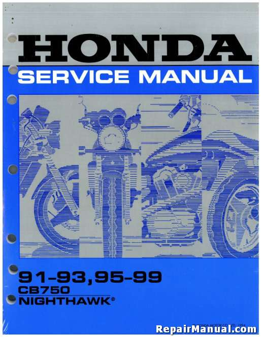 1991-1999 Honda CB750 Nighthawk Motorcycle Service Manual