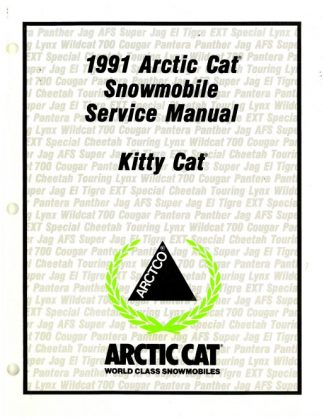 Official 1991 Arctic Cat Kitty Cat Snowmobile Factory Service Manual
