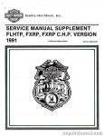 Official 1991 Harley-Davidson FXRP and 1991 Harley-Davidson FLHTP Police Service Manual Supplement