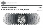 Official 1991 Harley Davidson FXRP FLHTP Owners Manual