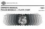 Official 1991 Harley Davidson FXRP FLHTP Owners Manual