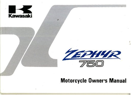 1991 kawasaki zr750 zephyr owners manual rh repairmanual com Instruction Manual zephyr owners manual
