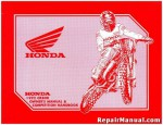 Official 1992 Honda CR80RN Competiton Handbook Owners manual