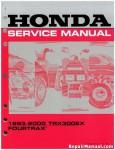 Official 1993-2000 Honda TRX300EX Factory Service Manual