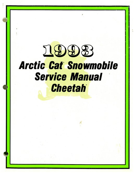 official 1993 arctic cat cheetah snowmobile factory service manual 2254 829t wiring diagram 1973 arctic cat lynx 1973 arctic cat ext, 1973  at mifinder.co