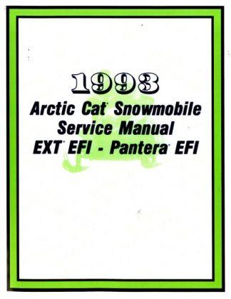 Official 1993 Arctic Cat Pantera EXT EFI Snowmobile Factory Service Manual