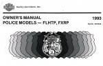 Official 1993 Harley Davidson FXRP and FLHTP Police Owner Manual