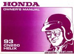 Official 1993 Honda CN250 Helix Motorcycle Factory Owners Manual