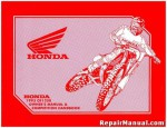 Official 1993 Honda CR125RP Motorcycle Competiton Handbook Owners manual