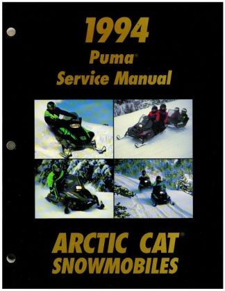 Official 1994 Arctic Cat Puma Puma Deluxe Snowmobile Factory Service Manual
