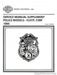 Official 1994 Harley-Davidson FXRP and 1994 Harley-Davidson FLHTP Police Service Manual Supplement
