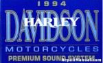 Official 1994 Harley Davidson Premium Sound System Owners Manual