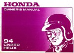 Official 1994 Honda CN250 Helix Motorcycle Factory Owners Manual