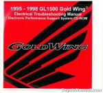 Official 1995-1998 Honda GL1500A I SE Electrical Troubleshooting Manual CD