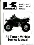 Official 1995-2004 Kawasaki KEF300 Factory Service Manual