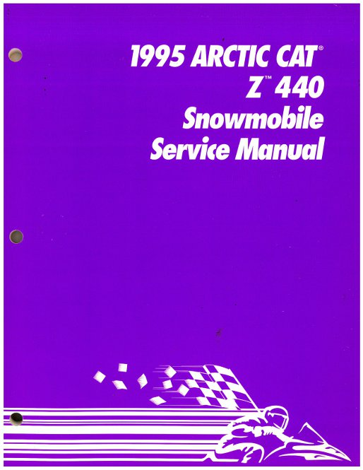 official 1995 arctic cat z440 snowmobile factory service manual