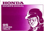 Official 1995 Honda CN250 Helix Motorcycle Factory Owners Manual