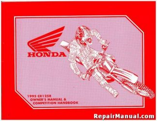 Official 1995 Honda CR125RS Motorcycle Competiton Handbook Owners manual