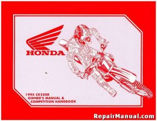 Official 1995 Honda CR250R Owners Manual and Competition Handbook