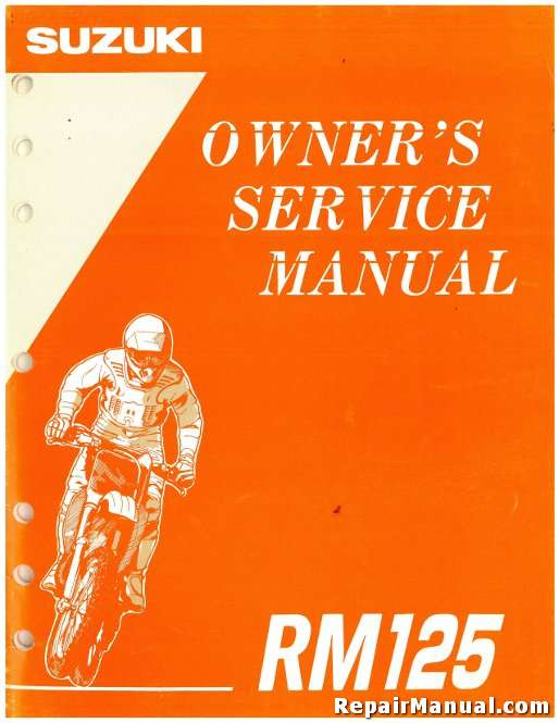 1995 suzuki rm125s motorcycle owners service manual