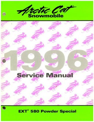 Official 1996 Arctic Cat EXT 580 Powder Special Snowmobile Factory Service Manual