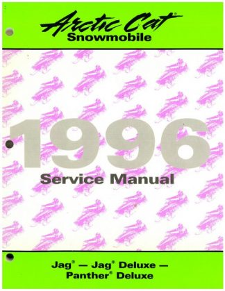 Official 1996 Arctic Cat Jag Jag Deluxe Panther Deluxe Snowmobile Factory Service Manual