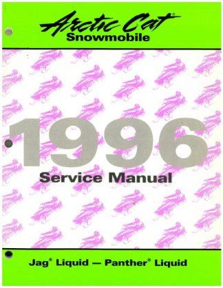 Official 1996 Arctic Cat Jag Liquid Panther Liquid Snowmobile Factory Service Manual