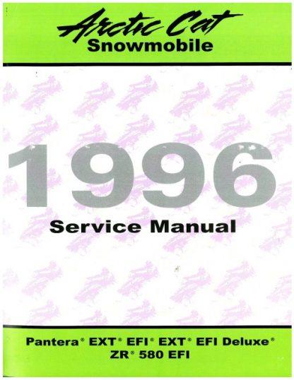 Official 1996 Arctic Cat Pantera EXT EFI EXT EFI Deluxe ZR580 EFI Snowmobile Factory Service Manual